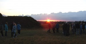 Summer Solstice Sunset at Sutton Hoo 22nd June 2011 © Dr Sam Newton