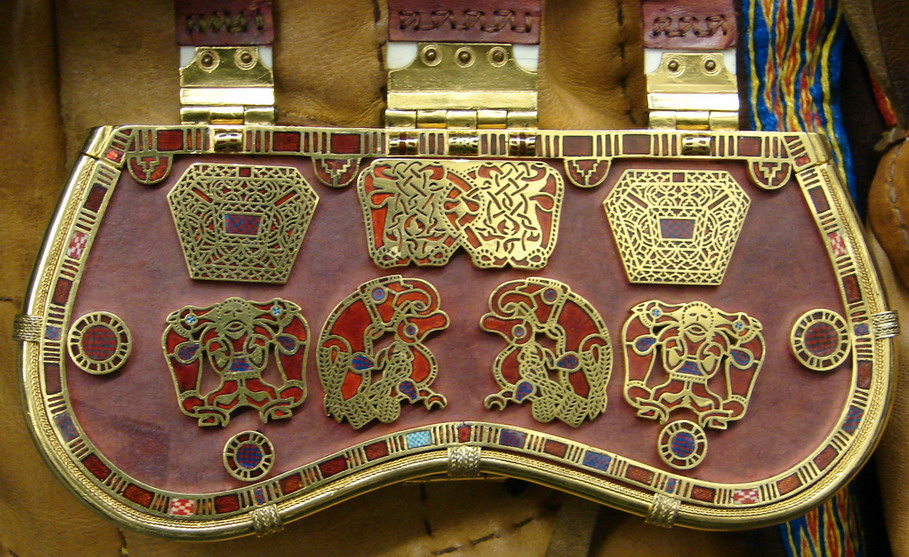 Paul Mortimer's replica of the Sutton Hoo sporran made by Dave Roper / Ganderwick Creations (© Sam Newton 11th Sept. 2011)